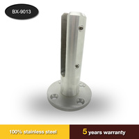 stainless steel frameless security pool fence glass spigot