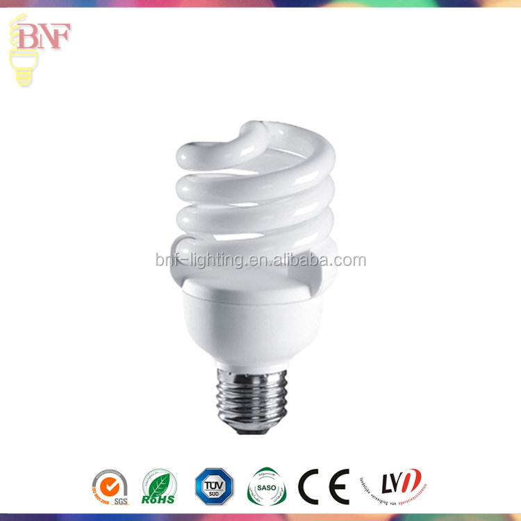 Energy Saving & Fluorescent diameter 9mm full spiral cfl energy saving lamps