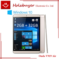 Original Intel Z3735F Quad Core 1.83GHz 9.7 inch QXGA IPS 2GB RAM 32GB ROM Window s 10 Android 4.4 Onda V919 Air Tablet PC