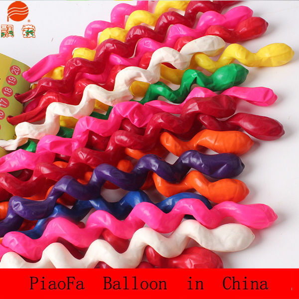 2015 Large self inflating magic spiral balloons high quality latex balloons manufacturers Christmas decorations
