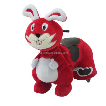 Hi Motorized Plush animal ride musical battery animal ride for adult and kids