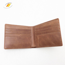 Vintage Bifold Rfid Blocking Men's Brown Leather Wallet