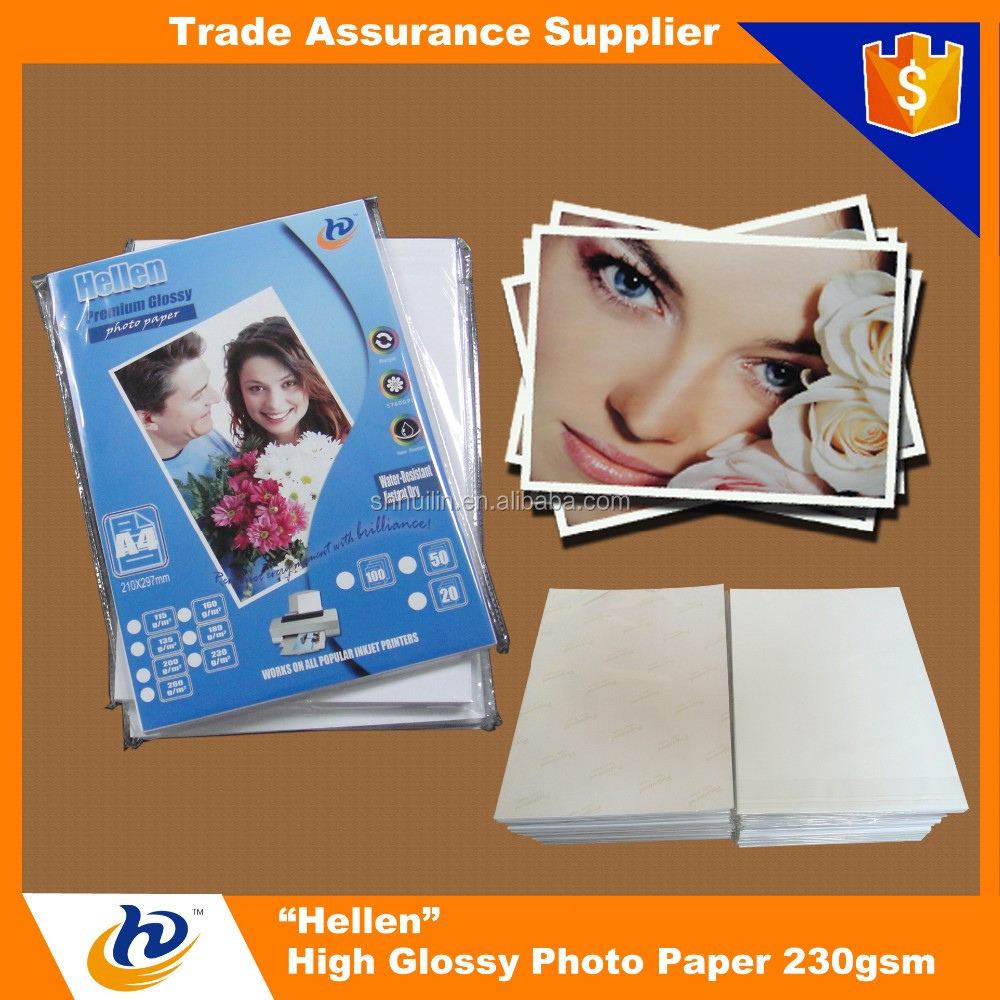 A3 A4 4R 4x6 10x15 13x18 230gsm Wholesale Glossy Inkjet Photo Paper