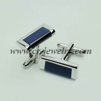 Fashion Royal Blue Cat Eye Cufflinks