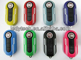 Flip Remote Key Case Shell for Fiat 500 Replacement Folding Combo Shell