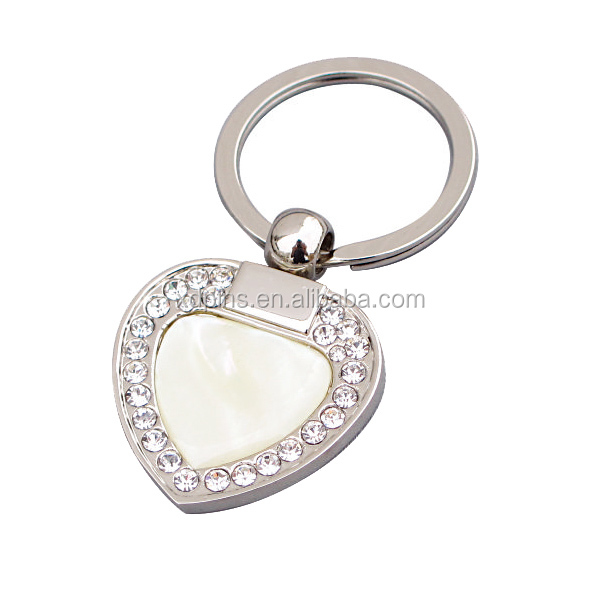 Heart Shape Blank key chain customized couple keychain/keyring