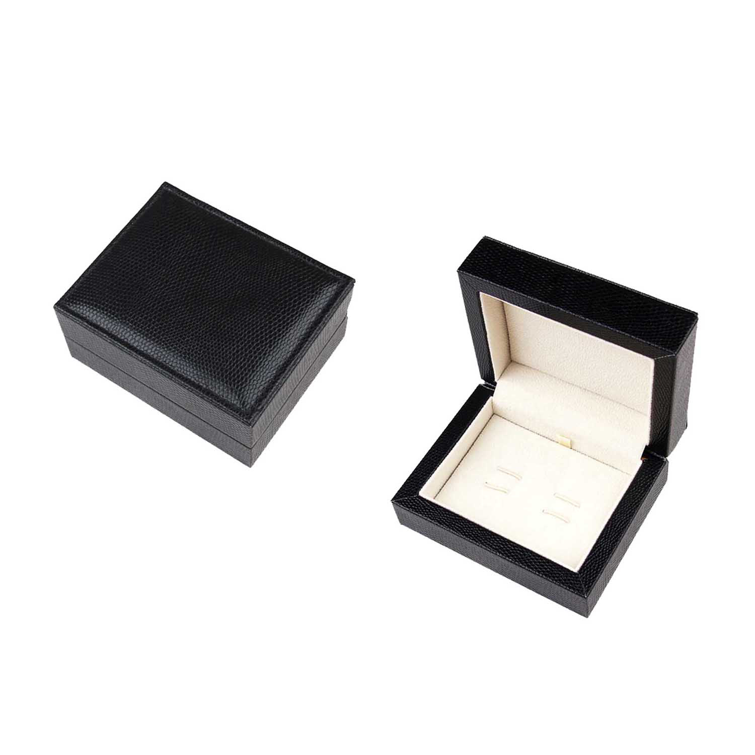 Hot sale delicate leather cufflink box with zipper