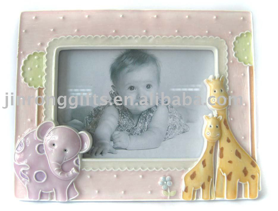 Polyresin Baby Giraffe Photo Frame
