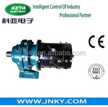 electric rail vehicle dc motor with brake
