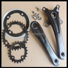 China Supplier Customized OEM Black Variable Speed Carbon Steel Crankset, Bicycle Crankset Hardware Factory Pass ISO/RoHS