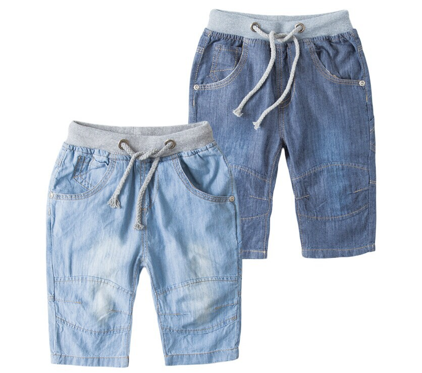New 2014 brand summer children's clothing kids jeans male female child denim shorts pant baby boys jeans trousers free shipping