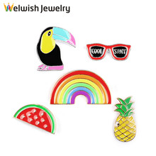 New Hot Sale Colorful Enamel Alloy Brooch Pin Button In Alibaba