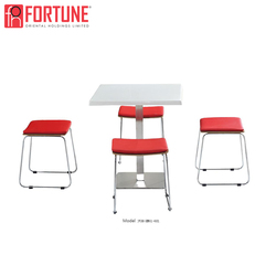 Cheap 4 seats stackable bar stool and table set
