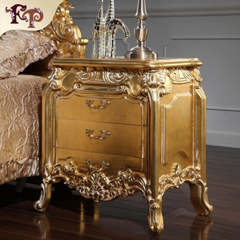 wholesale europe antique wood bedstand classic bed room furniture