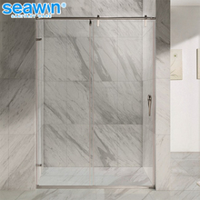Top Grade French Style 10mm Tempered Glass Sliding Shower Door OEM Glass Bath Screen
