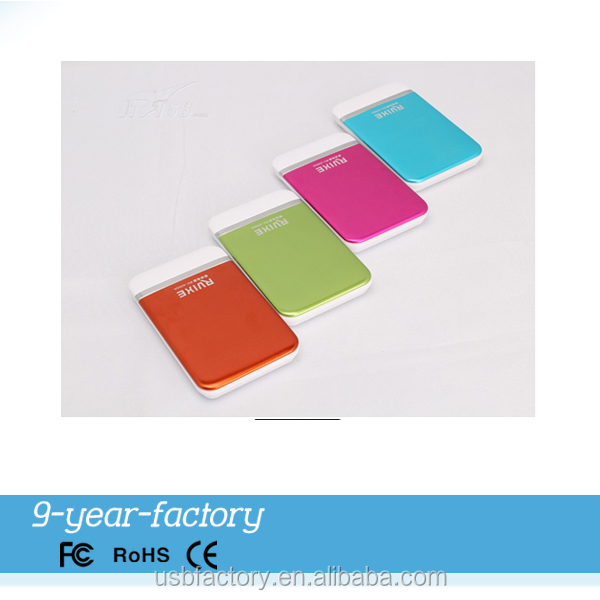Attractive gifts plastic multicolor style mobile power battery pack