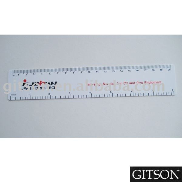 8 inch 1 millimeter Customized Printed Flexible pvc Ruler