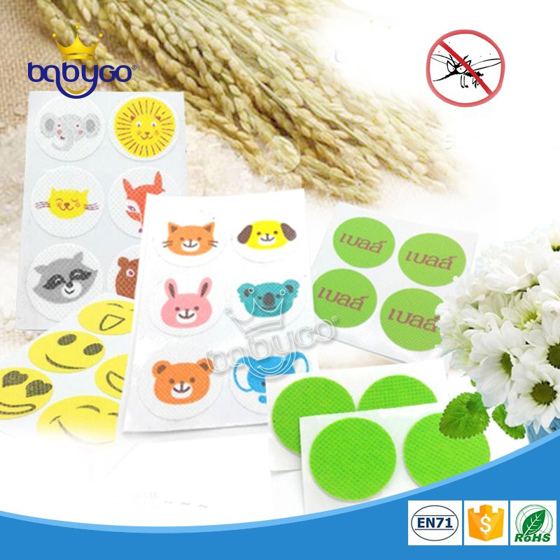 Citronella oil anti mosquito repellent stickers for babies