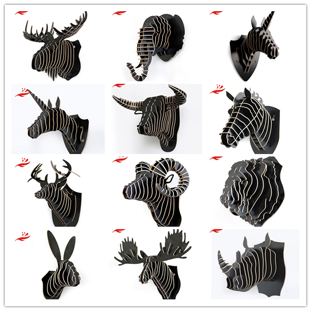 modern animal heads wall decor deeer for Restaurant decoration