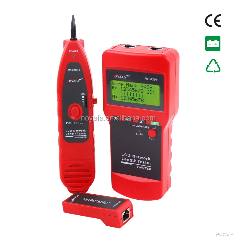 NOYAFA LCD LAN Cable Tester Wire finder Length meter RJ45 fault detector