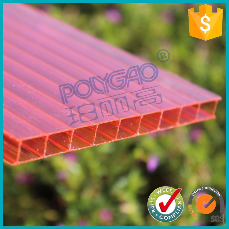 Direct selling 4mm polycarbonate green house sheet for pool roof