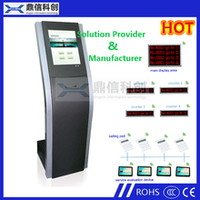 "17"" IR Touch Screen Bank Use KIOSK Queue machine with Thermal Ticket printer and Queue management System"