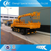 multifunctional mounted truck crane,crane with platform truck,small tipper with crane
