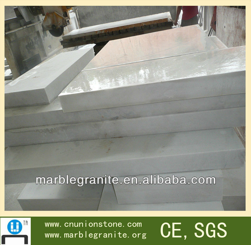 Cut To Size Tiles Polished Hunan White Marble
