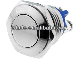 22mm push button security switch vandal