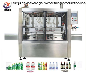 Soda water juice filling machine labeling machine production line