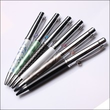 Multi color special clip hot gift item for women metal ball pen with acrylic grip
