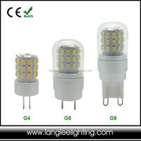 3W Aluminium + Glass G4 G8 G9 LED Light G8