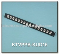 Reliable Quality (KTVPPB-KUD16) Cat. 5e Vertical Type Patch Panel (Keystone Type 16 Ports)