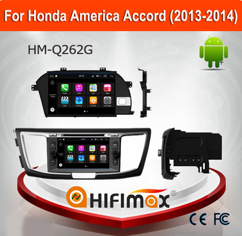 HIFIMAX Android 7.1 Touch Screen Car DVD Player For Honda Accord 2012 2013 2014 mirror 2G RAM 16G FLASH