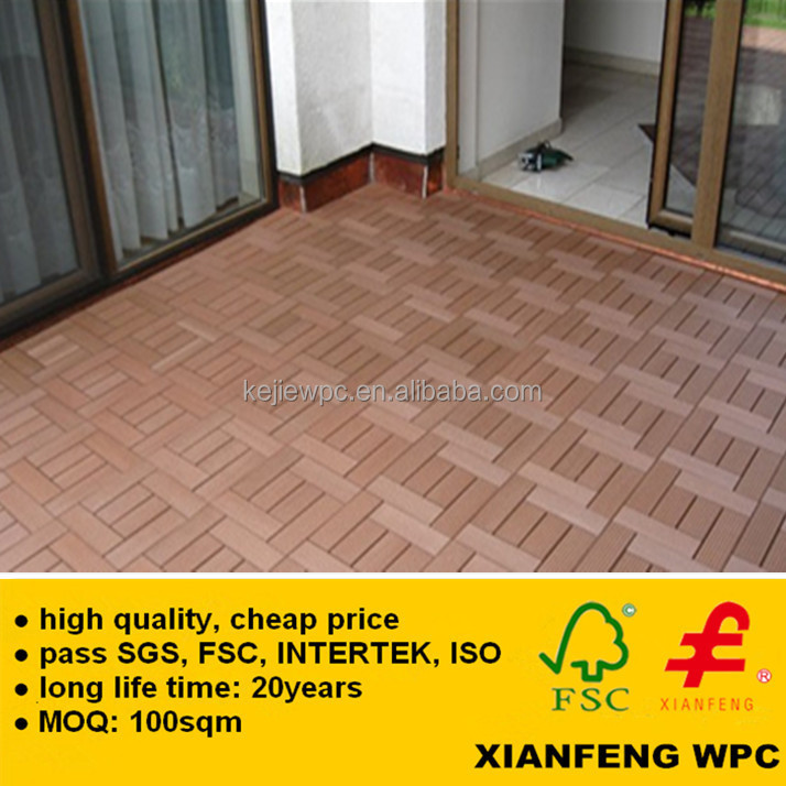 Good price wpc decking anti slip wood plastic composite for Non slip composite decking