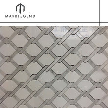 factory cheap price white waterjet marble stone mosaic tile for sale
