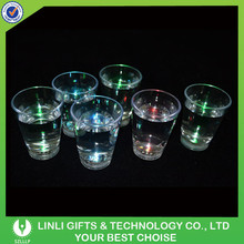 Liquid Activated Cheap LED Flashing Shot Cup Exporter, Colorful Light Party Shot Cup Exporter For Bar/Club