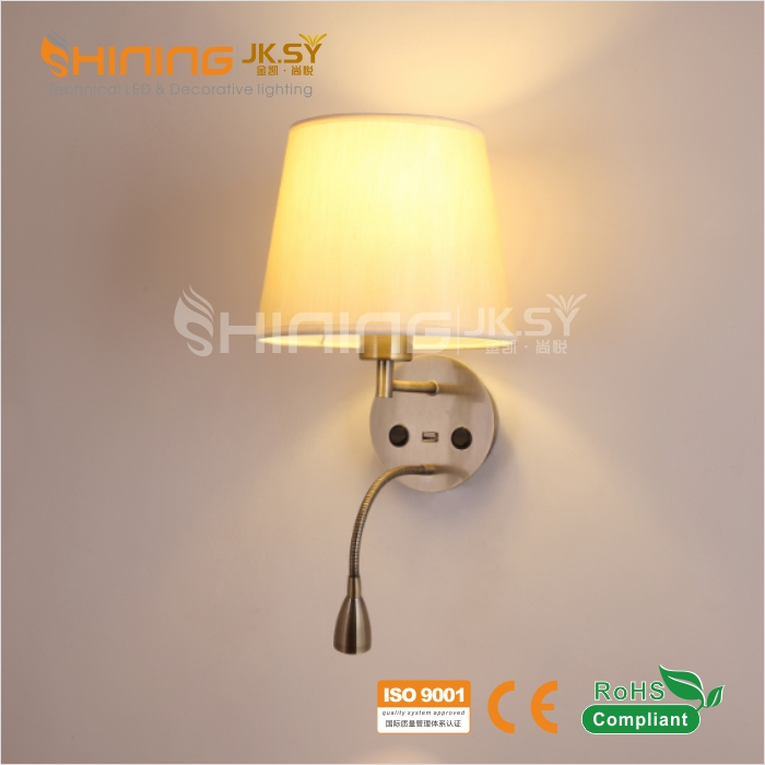 Modern 100-240V Wall Lamps for Hotel Bed Reading