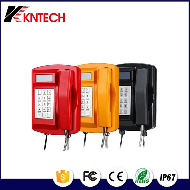 OEM manufacture KNSP-18 ip67 emergency phone, sos emergency telephone, outdoor public waterproof telephone