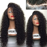 2016 new fashion brazilian kinky curly full lace african american cheap wigs