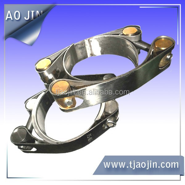 double bolt high torque pipe clamps