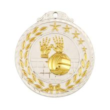 Wholesale prices simple design souvenir gift zinc alloy type metal volleyball medal and trophy