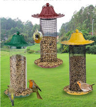 Wild Bird Seed Feeder Anti Squirrel Easy Clean plastic tube bird feeders