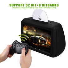 Headrest dvd player with 10.1 inch 1080p touch button HDMI FM IR USB SD 32bit Wireless Game