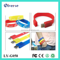 Silicone bracelet 64gb to 500gb usb 2.0 flash drive wristband usb flash memory stick