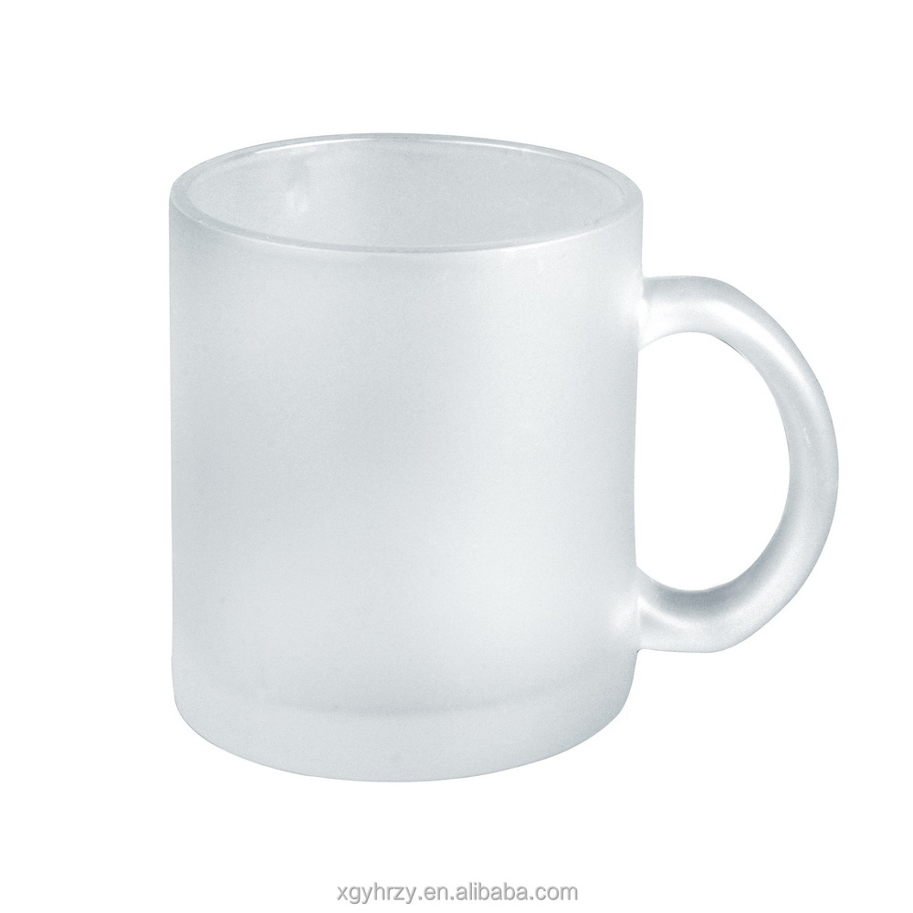11oz frosted glass beer mug for sublimation printing