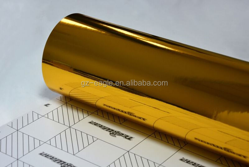 Flexible 3M Chrome Gold Vinyl Folie Chrome Car Wrap