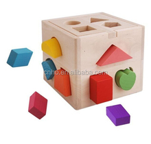 Educational Intelligence Hot Sale Wooden Shape Block Box Toys