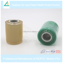 LG47 Green soft pvc stretch plastic slitting packaging film