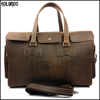 Trendy 100% real leather hiking camping mens travel bag